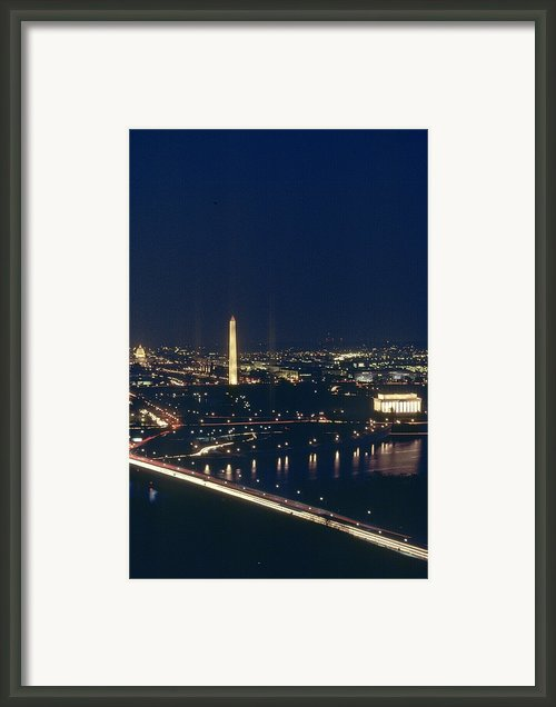 Washington D.c. At Night, Seen Framed Print By Kenneth Garrett