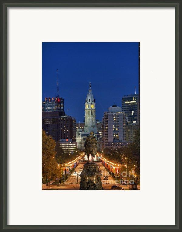 Washington Monument And City Hall Framed Print By John Greim