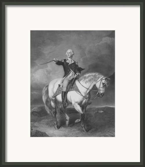 Washington Receiving A Salute At Trenton Framed Print By War Is Hell Store