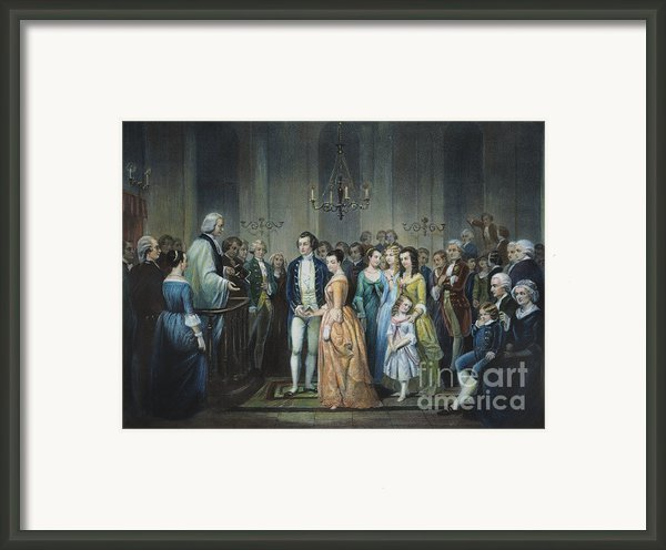 Washingtons Marriage Framed Print By Granger
