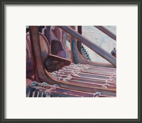 Washroom Gears Framed Print By Jenny Armitage