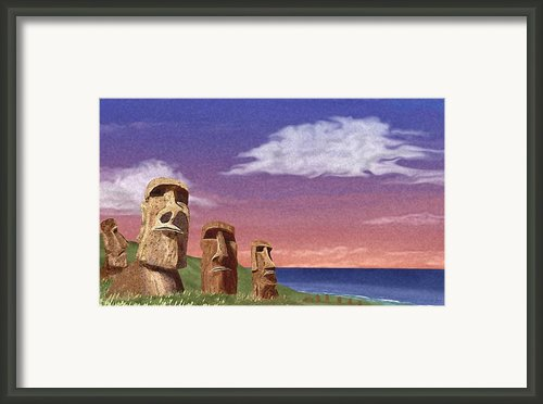 Watchers Framed Print By Gordon Beck