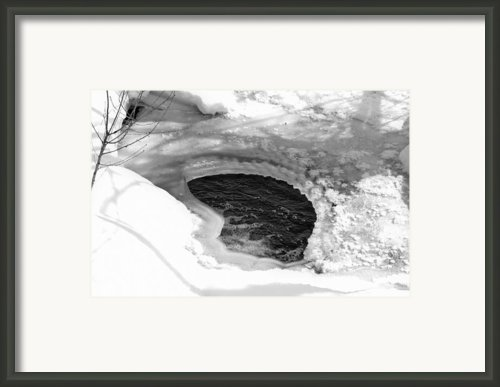 Water And Ice Framed Print By Michael Goyberg
