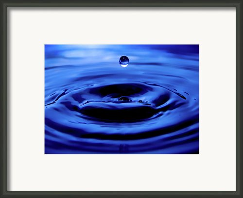 Water Drop Framed Print By Eric Ferrar