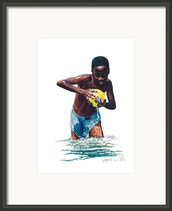 Water Game Framed Print By Gregory Jules