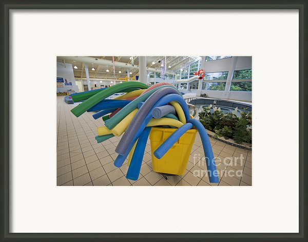 Water Noodles At A Public Swimming Pool Framed Print By Marlene Ford