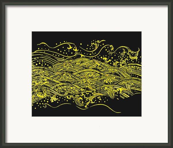 Water Pattern Framed Print By Setsiri Silapasuwanchai