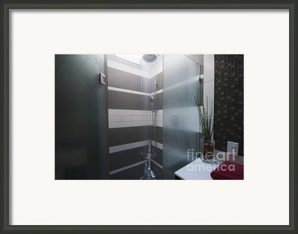 Water Turned On In A Shower Framed Print By Marlene Ford