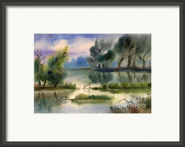 Water View Landscape Framed Print By Cristina Movileanu