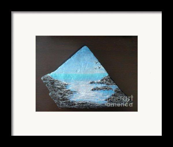 Water With Rocks Framed Print By Monika Shepherdson