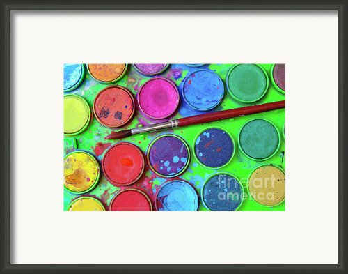 Watercolor Palette Framed Print By Carlos Caetano