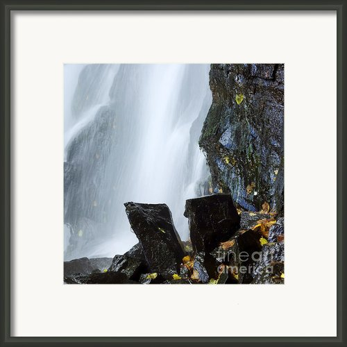 Waterfall In Auvergne Framed Print By Bernard Jaubert