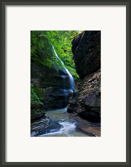 Waterfall In The Gorge Framed Print By Mike Horvath