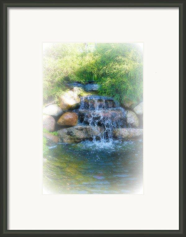 Waterfall Framed Print By Rebecca Frank