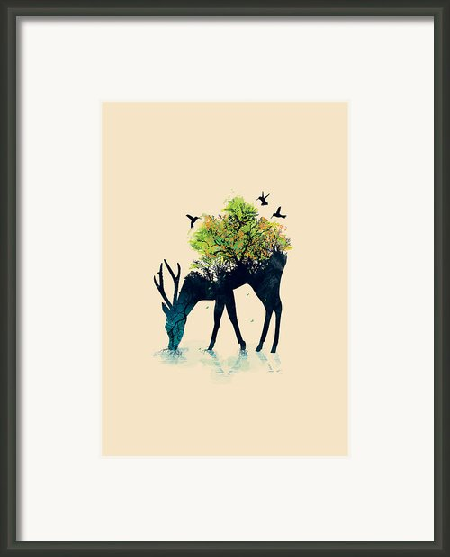 Watering A Life Into Itself Framed Print By Budi Satria Kwan