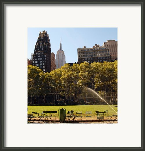 Watering Of The Grass Framed Print By Luis Lugo