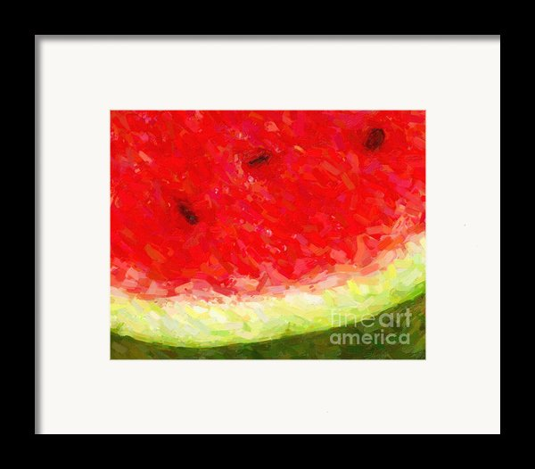 Watermelon With Three Seeds Framed Print By Wingsdomain Art And Photography
