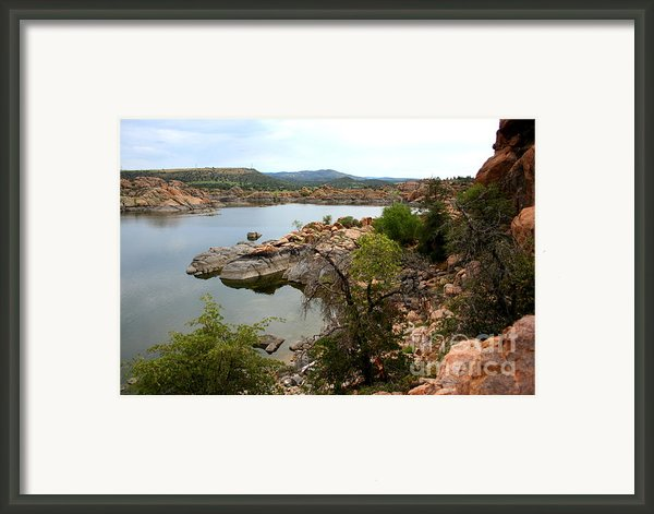 Watson Lake 2 Framed Print By Julie Lueders