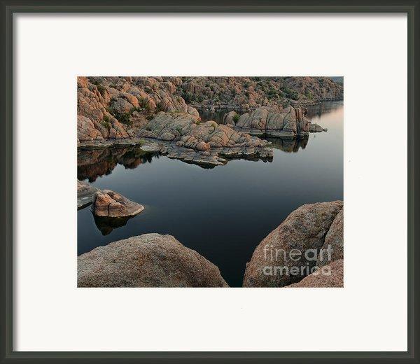 Watson Lake At Sunset Framed Print By Dave Dilli
