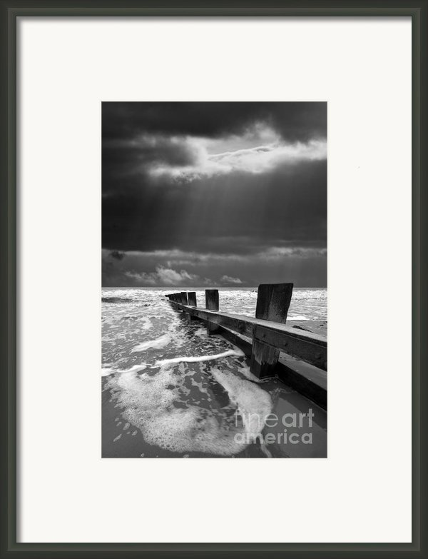 Wave Defenses Framed Print By Meirion Matthias