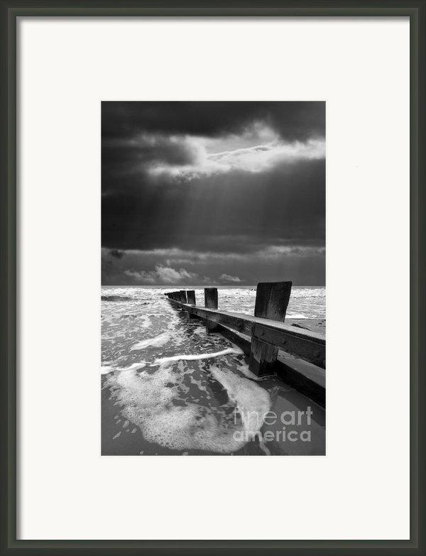 Wave Defenses Framed Print By Meirion Matthias
