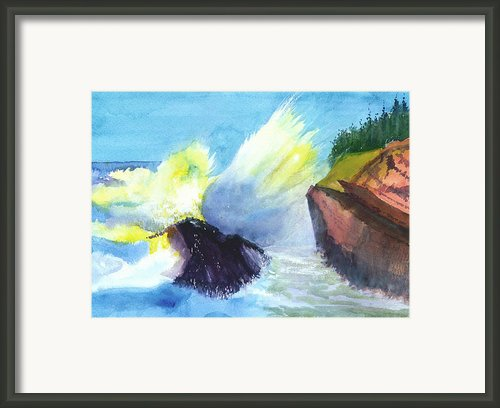Waves 1 Framed Print By Anil Nene