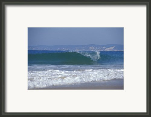 Waves Break On A Pristine Sandy Beach Framed Print By Jason Edwards