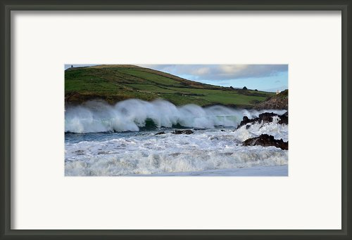 Waves In Dingle Framed Print By Barbara Walsh