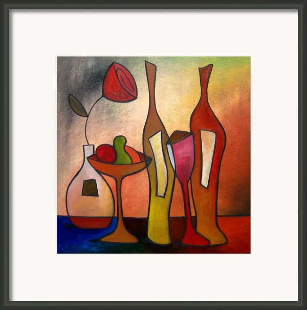 We Can Share - Abstract Wine Art By Fidostudio Framed Print By Tom Fedro - Fidostudio