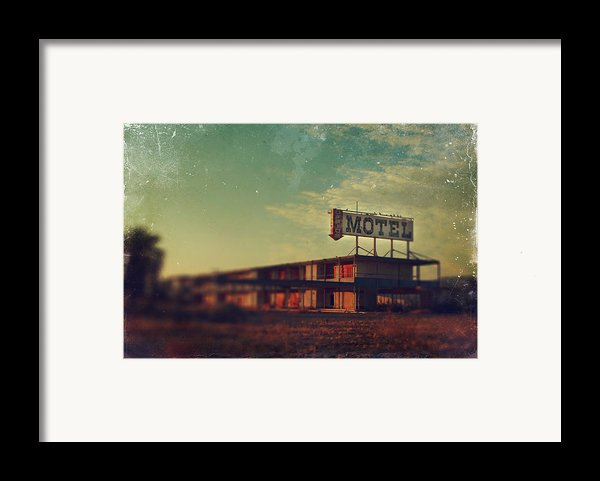 We Met At The Old Motel Framed Print By Laurie Search