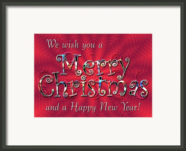 We Wish You A Merry Christmas Framed Print By Susan Kinney
