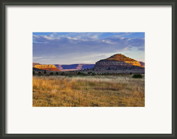Wedding Cake Ranch Framed Print By Charles Warren