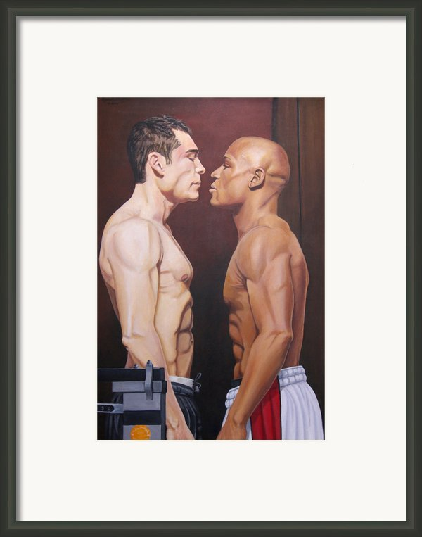 Weighin Staredown Framed Print By Kenneth Kelsoe