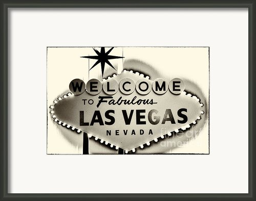 Welcome To Fabulous Las Vegas Nevada Framed Print By Leslie Leda