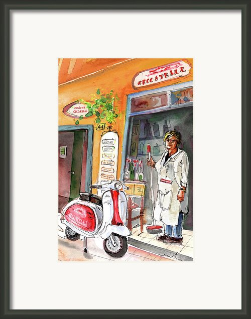 Welcome To Italy 04 Framed Print By Miki De Goodaboom