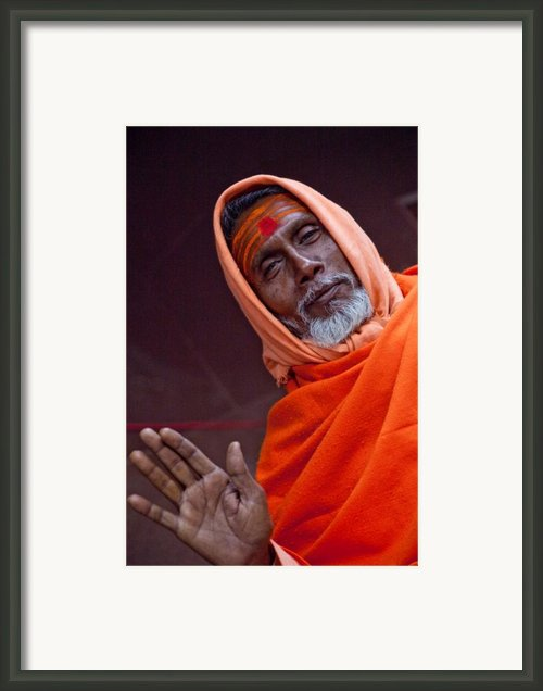 Welcome To Kumbh Mela 2010 Framed Print By John Battaglino
