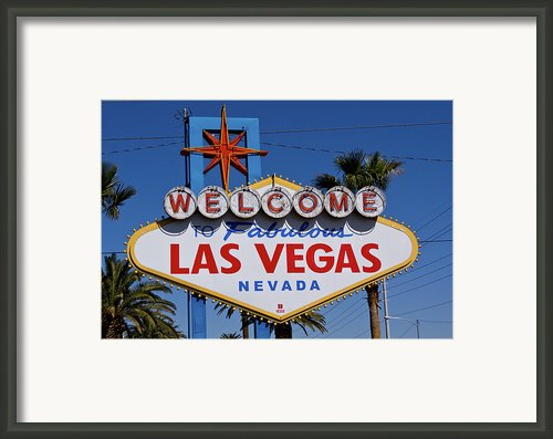 Welcome To Las Vegas Framed Print By Photo Taken By Darren Olley