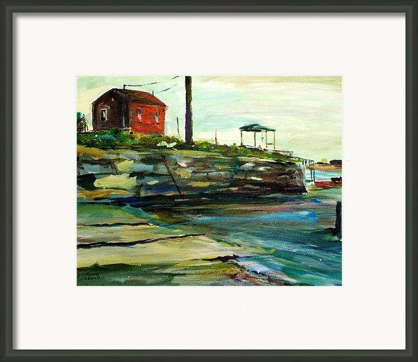 Wells Harbor Maine Framed Print By Scott Nelson