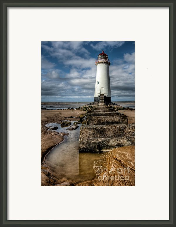 Welsh Lighthouse  Framed Print By Adrian Evans