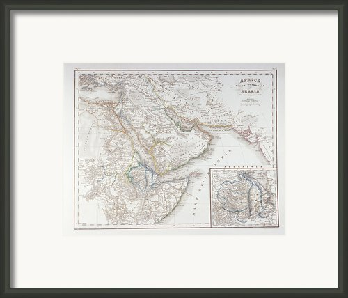 West Africa And Arabia Framed Print By Fototeca Storica Nazionale