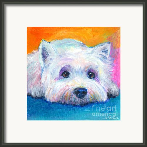 West Highland Terrier Dog Painting Framed Print By Svetlana Novikova
