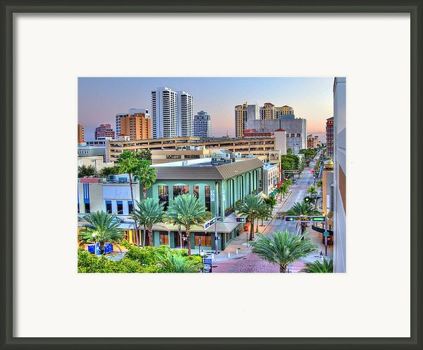 West Palm At Twilight Framed Print By Debra And Dave Vanderlaan