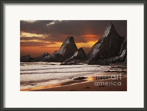Westcombe Bay Framed Print By Richard Garvey-williams