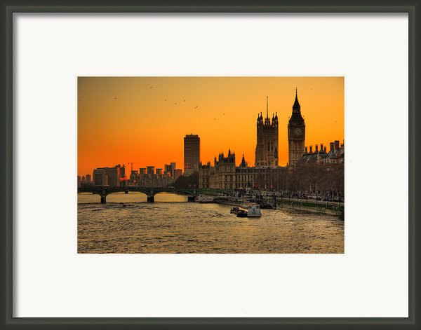 Westminster & Big Ben London Framed Print By Photos By Steve Horsley