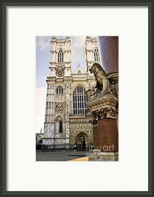 Westminster Abbey Framed Print By Elena Elisseeva