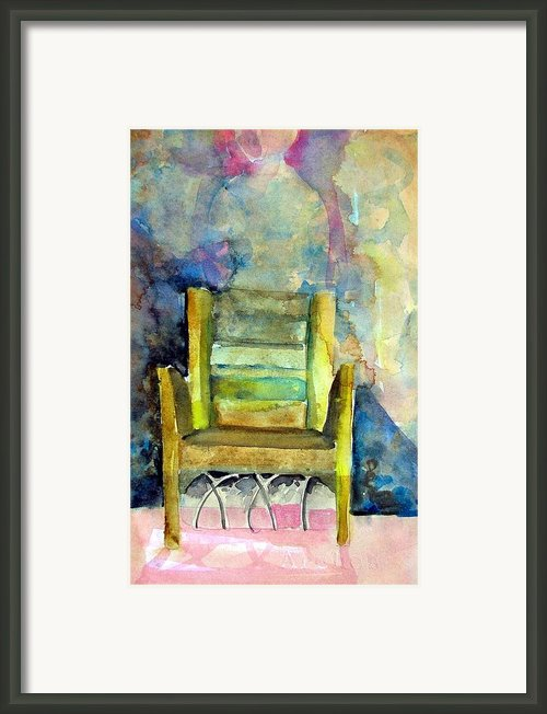 Westminster Abbey Queen Chair Framed Print By Mindy Newman