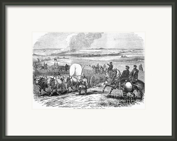 Westward Expansion, 1858 Framed Print By Granger