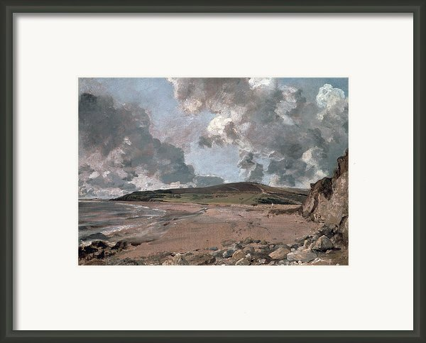 Weymouth Bay With Jordan Hill Framed Print By John Constable