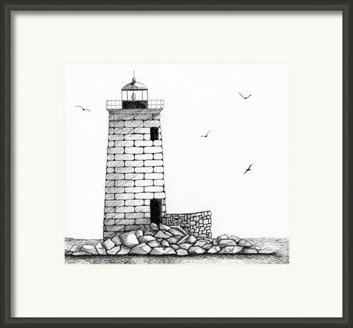 Whaleback Ledge Lighthouse Framed Print By Tim Murray