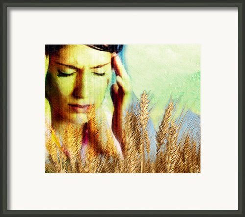 Wheat Allergy Framed Print By Hannah Gal